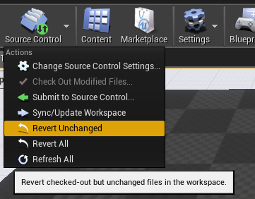 Source Control Top Menu